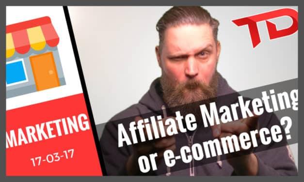 Affiliate marketing vs e commerce