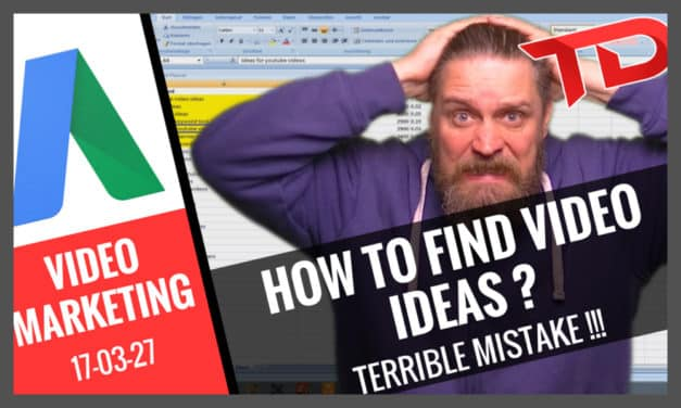How to find YouTube Video Ideas 2 – Terrible Mistake!!!